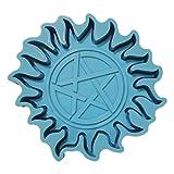 GREEN&RARE Moldes de resina, forma de Marte DIY Coaster Molde de resina epoxi, almohadilla de...