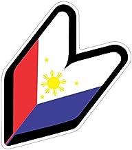 JS Artworks JDM Wakaba Leaf Philippine Flag Vinyl Sticker Decal
