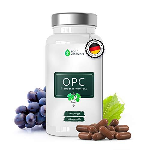 OPC Premium Traubenkernextrakt - 842mg Extrakt aus französischen Weintrauben je Tagesdosis (HPLC) - hochdosiertes & reines OPC aus deutscher Herstellung, Laborgeprüft & Vegan (1 Monat Kur)