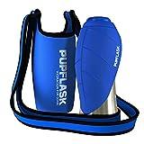 Dog Water Bottle Holder and PupFlask Portable Water Bottle - 27oz, Blue