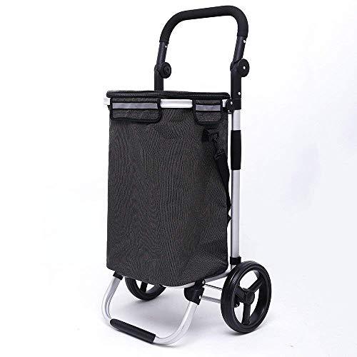 ZLININ Y-Longhair Compras, Desmontable de aleación de Aluminio de Rod, portátil Compras, pequeño Carro, Cart.Dimensions Plegables: 45 * 37 * los 97CM. Carritos de la Compra