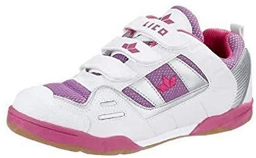 Lico world indoor 360233 v pour intérieur blanc, baskets fille blanc/violet/rose-taille 39