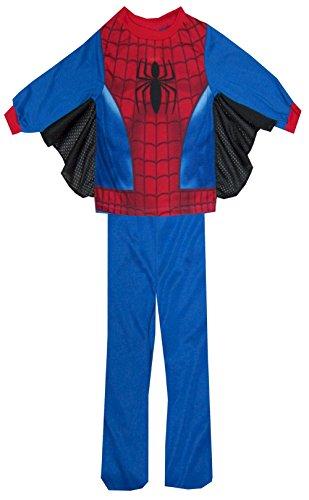 Marvel Little Boys' Spiderman Uniform Pajamas (Blue 2T), Blue, Size 2T