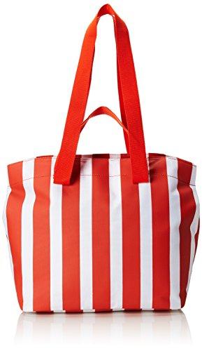 ESPRIT edc by Accessoires Damen 058ca1o006 Stoff-und Strandtasche Orange (Orange)