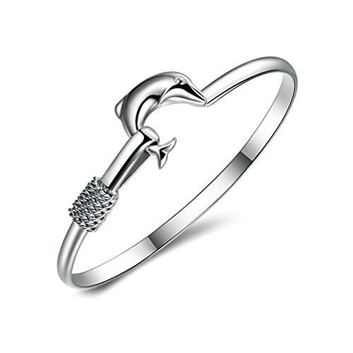 1 pulsera para mujer con delfín, pulsera personalizada, accesorios de joyería para niña