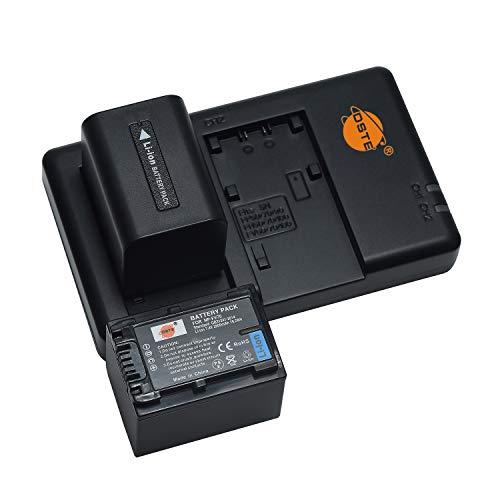 NP-FV70 (2 Stück) Wiederaufladbarer Akku Ersatzakku und Dual Ladegerät Kompatibel mit Sony DCR-SR88/SX21/SX44/SX45/SX63/SX65/SX83/SX85,FDR-AX100,HDR-CX115/CX130/CX150/CX155 Kamera usw