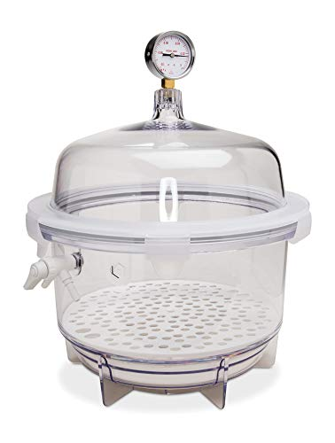 Bel-Art Lab Companion Clear Polycarbonate Round Style Vacuum Desiccator; 20 Liter (F42400-2221)