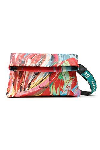 Desigual Fabric Body Bag, Bolsa para Cuerpo de Across para Mujer, Verde, U