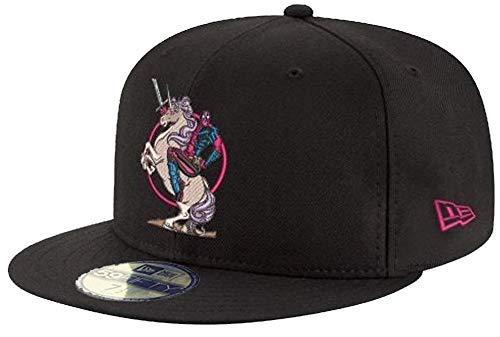 New Era Deadpool Unicorn Black 59fifty 5950 Fitted Cap Marvel Comics Kappe Limited Edition