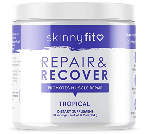 SkinnyFit Repair & Recover 30 Servings: BCAA Powder for Women, Branched Chain Amino Acids, Pre Intra Post Workout Supplement to Support Endurance, Help Aid in Muscle Recovery, Tropical Flavor