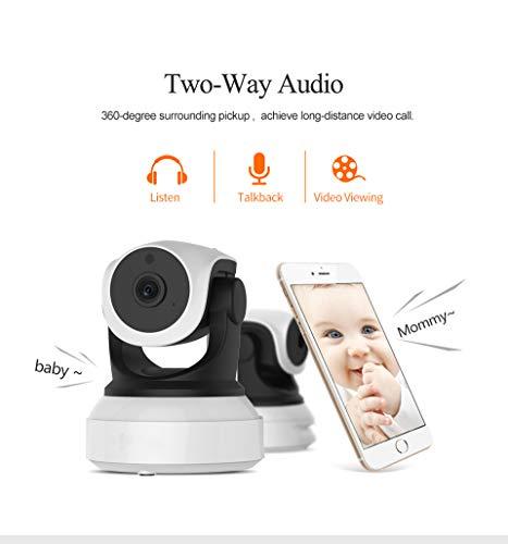 Fhjzlj 7824WIP - Vigilabebés WiFi con 2 Canales de Audio con cámara IP de detección de Movimiento para cámaras inalámbricas de bebé
