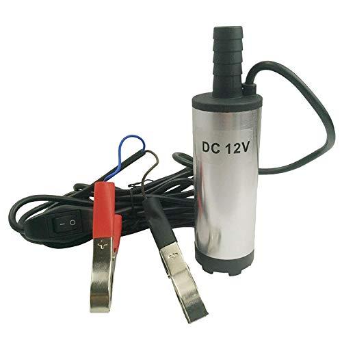Milageto Bomba de Transferencia de Combustible Eléctrica Líquida de Aceite Bomba de Agua Sumergible 12V DC