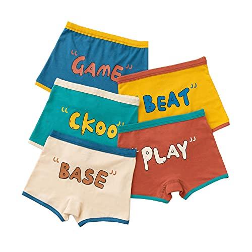 Mädchen Unterhosen,Kinder Unterhosen Unterwäsche,Kleinkind Slip Höschen,Baumwolle Kinder Höschen 5er Pack 2-15 Jahre (B,XL-4-5 Years)