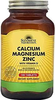 SUNSHINE NUTRITION Calcium Magnesium Zinc With Vitamin D, 100 Tablets