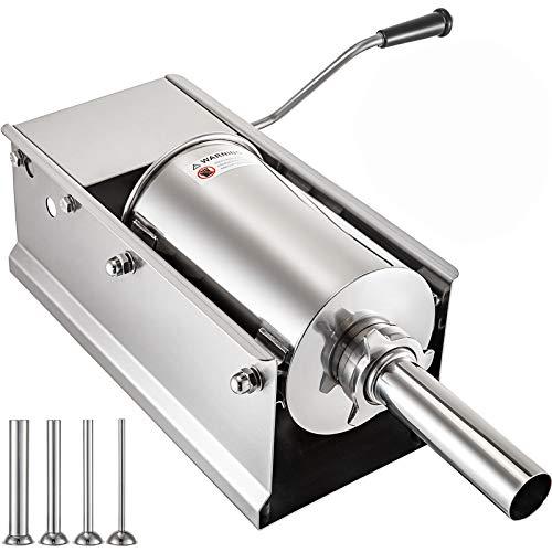 VEVOR Insaccatrice Manuale Professionale Insaccatrice Per Salumi in Acciaio inox 304 e 201 Tritacarne Ideale Per Cucine Commerciale (5L)