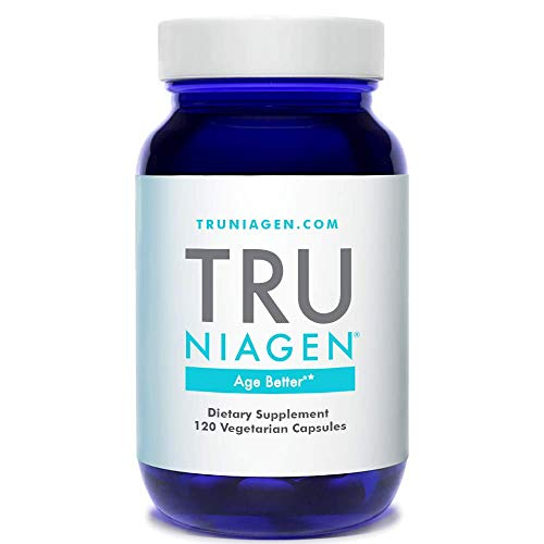 TRU NIAGEN Nicotinamide Riboside - Patented NAD Booster for Cellular Repair & Energy, 150mg Vegetarian Capsules, 300mg Per Serving, 60 Day Bottle