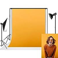 UrcTepics 1.5x2.2m 極細繊維 オレンジ色の背景布子供の写真 ポートレート写真 背景 写真スタジオ 肖像画 撮影用 背景布 写真撮影用 背景幕 無反射布背景 カスタマイズ可能な