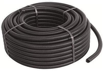 Tubifor Bobina de tubo protector aislante corrugado plegable autoextinguible con tirahilo (diámetro 16 mm, negro, 100 metros)