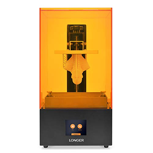 LONGER Orange 30 3D Printer, Upgraded Resin SLA 3D Printer with 2K High-Resolution, Parallel LED Lighting, 4.72'x2.68'x6.69' Large Printing Size, Off-line Printing