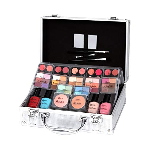Keeva Cosmetics - Coffret maquillage mallette en aluminium 72 pièces - Diva