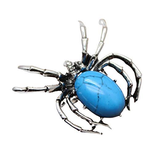 Broche con forma de araña de cristal sintético para mujer, estilo vintage, 8
