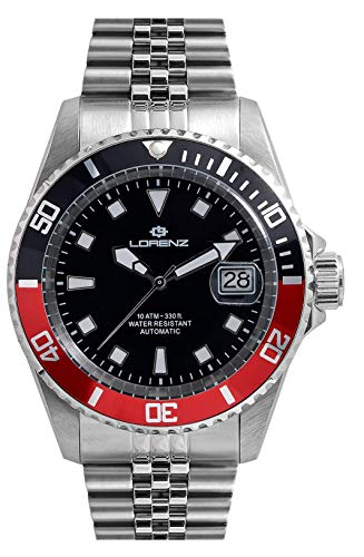 Lorenz Submarino automático New Model Negro y rojo.