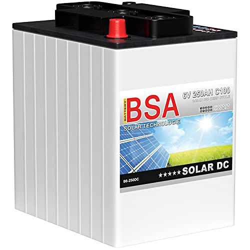 BSA Solarbatterie 6V 250Ah Wohnmobil Versorgungsbatterie Solar Batterie 240Ah 225Ah