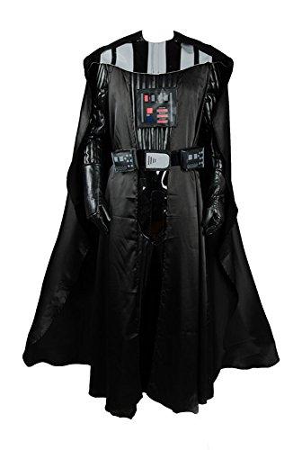RedJade Darth Vader Outfit Suit Traje de Cosplay Disfraz Negro Hombres L