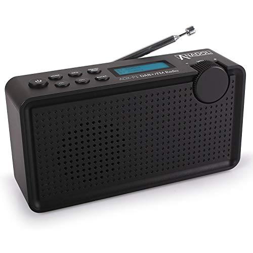 mächtig Anadol AD X-P1 DAB / DAB + / UKW / FM-Radio – 20 vorprogrammierte Sender, tragbarer 2-Zeilen-LCD-Bildschirm,…