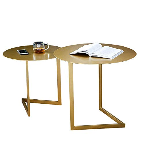 Living room table with metal frame Set Of 2 Living Room End Table Side Table Metal Coffee End Side Table Metal Nesting Coffee Table For Living Room Bedroom Decorative Table For Living Room Bedroom