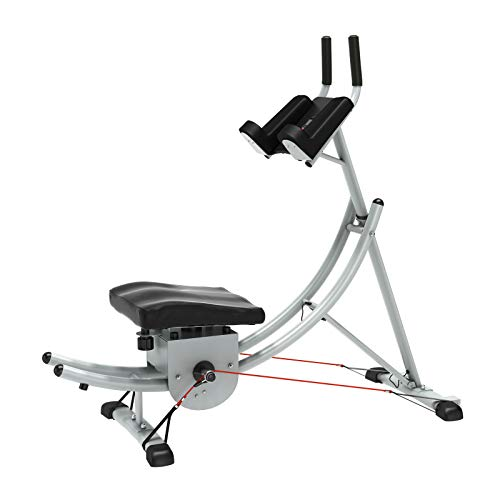 DlandHome Abdominal Crunch Coaster, Foldable Ab Machine Exercise Equipment for Home Gym, Fitness Equipment Body Exercise Workout Trainer Max Core Work Out (Ab Coaster),YKYN-ASM-Y