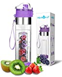 Bottom Loading Fruit Infuser Water Bottle (OneClick Open Lid) - BPA Free Tritan