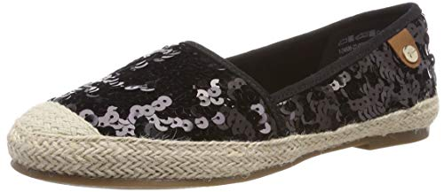 Tamaris Damen 1-1-24606-22 Slipper, Schwarz (Black Sequins 21), 36 EU