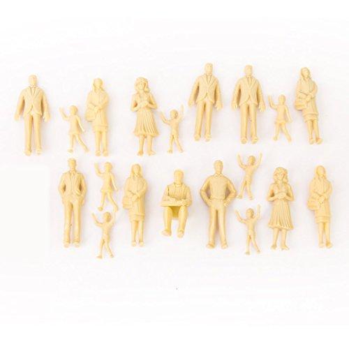 Gaoominy 20pcs Tren del Modelo de Personas Figuras sin Pintar 1:25