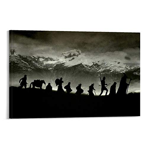 Kunstdruck auf Leinwand, Motiv: Herr der Ringe, die Gefährten, 40 x 60 cm