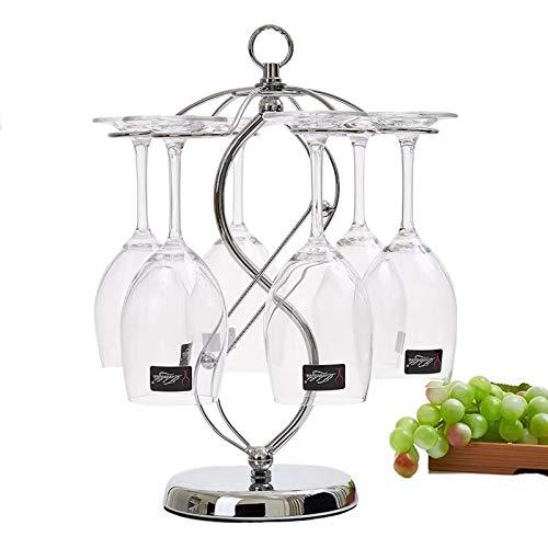 Estante para copas de vino de encimera FIAMER, sistema de secado de aire, estante de almacenamiento de cocina, estante de almacenamiento de mesa de metal para vasos, estante de exhibición de vasos