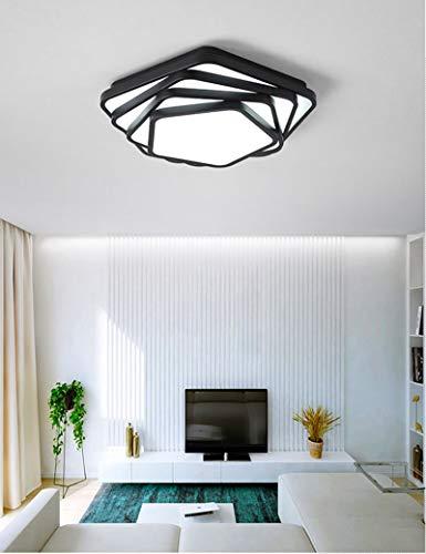 Mm decoratieve hanglamp, kristal, verlichting, trap, plafondlamp, kroonluchter van kristalglas, binnenverlichting, LED-wandlamp, creatieve geometrische stijl, zwart, lampenkap grote transmitter Gradation Tricolore-50cm-20w
