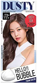 Easy Hair Coloring, mise en scene Hello Bubble Foam Color Ash Gray [6A Dusty Ash], Self Care DIY Hair Coloring Amore Pacific