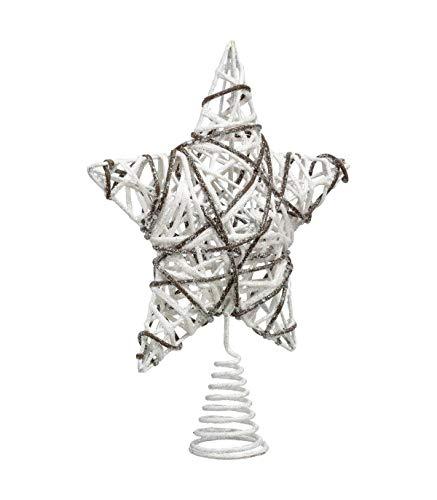 Féérie Lights & Christmas Cimier pour Sapin de Noël - 51 x 47 cm - Blanc et Beige