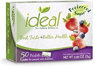 Ideal - Sweetener Packets - 50 Count Box - 6 Boxes
