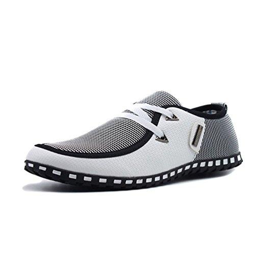 Herren Casual Schuhe Light Flats Schuhe atmungsaktive Leder Loafers Slip on Shoes Driving Flats