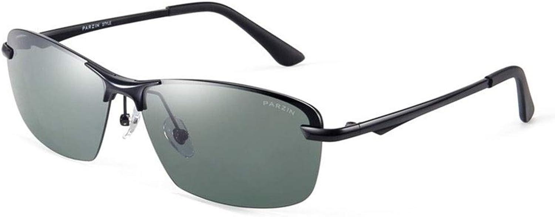 Sunglasses, Men's Metal Half Frame Polarized Driver Driving Sunglasses Filter Glare UV400