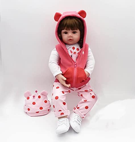 18pulgadas 45cm Reborn Bebes niñas Realista muñecas Silicona Reales Recien Nacidos Toddler niño Originales Ojos Abiertos...