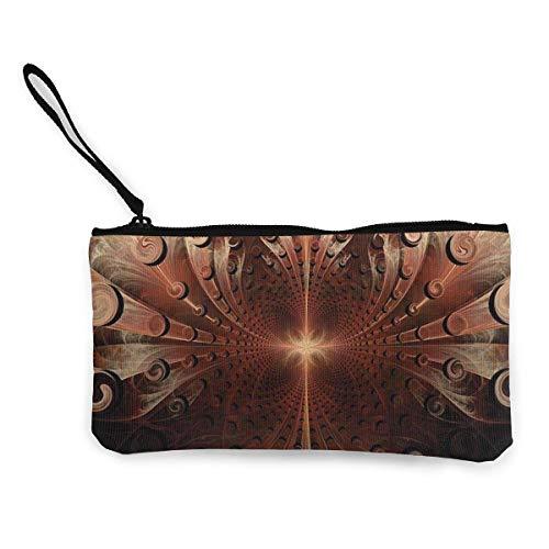 Monedero gótico medieval heráldico ornamental para mujeres y niñas lindo de la moda monedero de lona cambio de dinero bolsa de dinero monedero pequeño bolso monedero para llavero bolsas de viaje