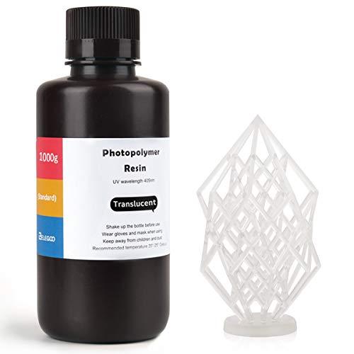 ELEGOO ABS-Like 3D Drucker Resin LCD UV-härtendes Harz 405nm Standard Photopolymerharz für LCD 3D Drucker Transluzent 1000g