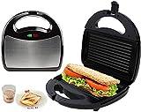 J&X Parrilla eléctrica Máquina de Sandwich de Hierro Máquina de Waffle Panini Press para Acero Inoxidable Recubrimiento Antiadherente para el Desayuno Tostadora Otros bocadillos
