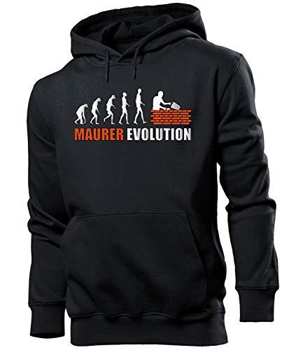 Golebros Maurer Evolution Herren Männer Hoodie Kapuzen Pullover Sweatshirt Pulli Artikel Geschenke Geburtstag Arbeitskleidung zubehör Berufsbekleidung Oberteil Kleidung Outfit ausrüstung