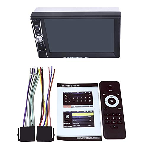 Nrpfell 2 DIN Coche Reproductor Multimedia Pantalla TáCtil Phone Link Auto MP5 Reproductor Audio Coche EstéReo FM USB AUX 7 Inch