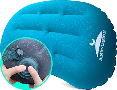 Ultralight Inflatable Camping Travel Pillow - Fast Inflatable by Pressing - Compressible Pillows for Backpacking & Hiking, Small Compact, Great for...
