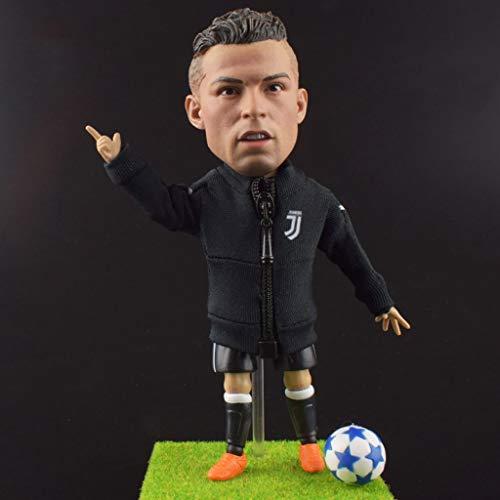 MMZ Fußballstar Cristiano Ronaldo 1/6 Sammler Action-Figur aus Portugal Nationale Fußballmannschaft/Sammlerstücke for Fußballfan/Dashboard-Dekor for Auto-13CM